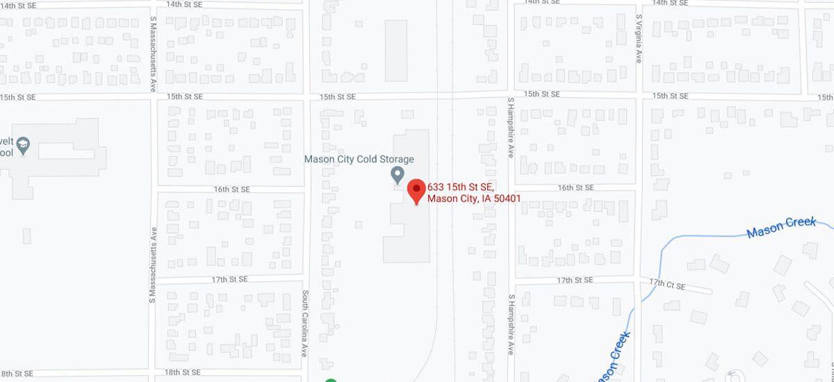 Crystal Cold's Mason City location is at 633 15th St. SE Mason City, IA 50401